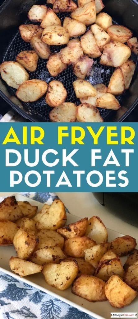 air fryer duck fat potatoes at recipethis.com