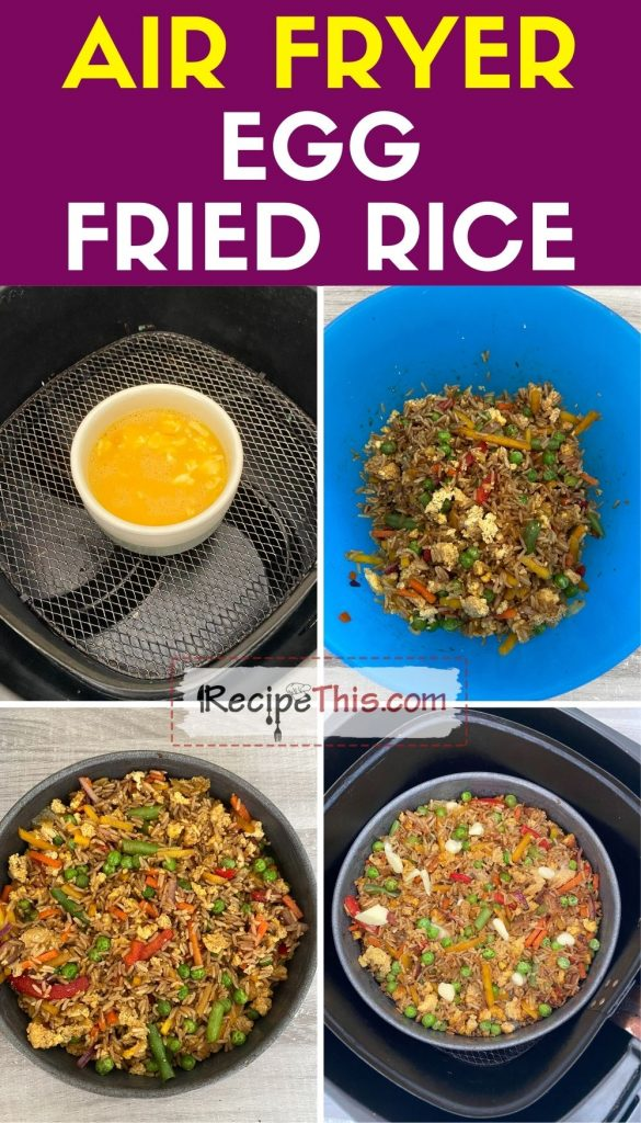 air fryer egg fried rice
