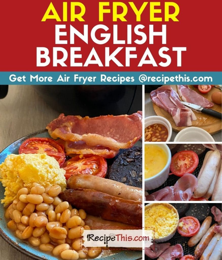 air fryer english breakfast step by step