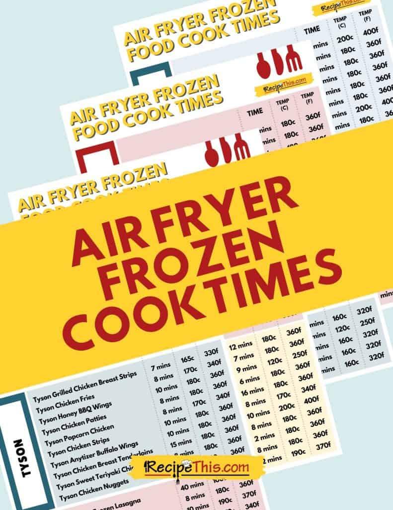 air fryer frozen cook times in pdf
