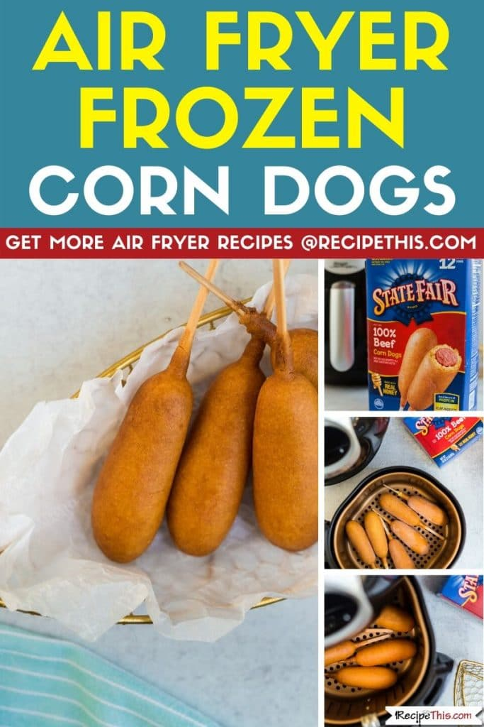 air fryer frozen corn dogs step by step