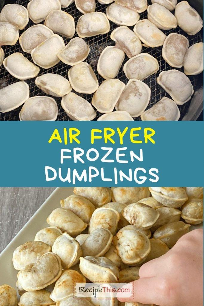 air fryer frozen dumplings at recipethis.com