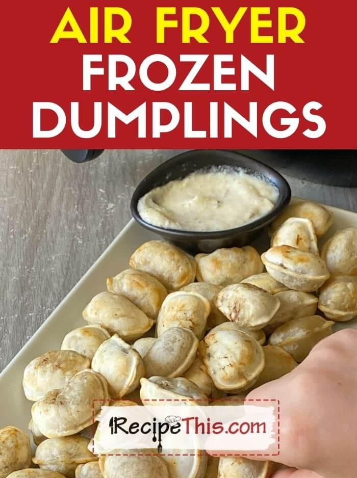 air fryer frozen dumplings recipe