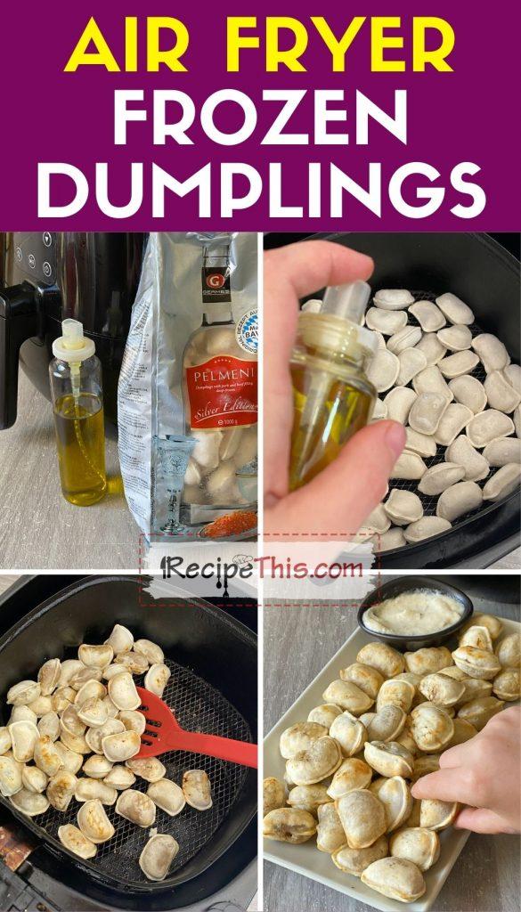 air fryer frozen dumplings step by step