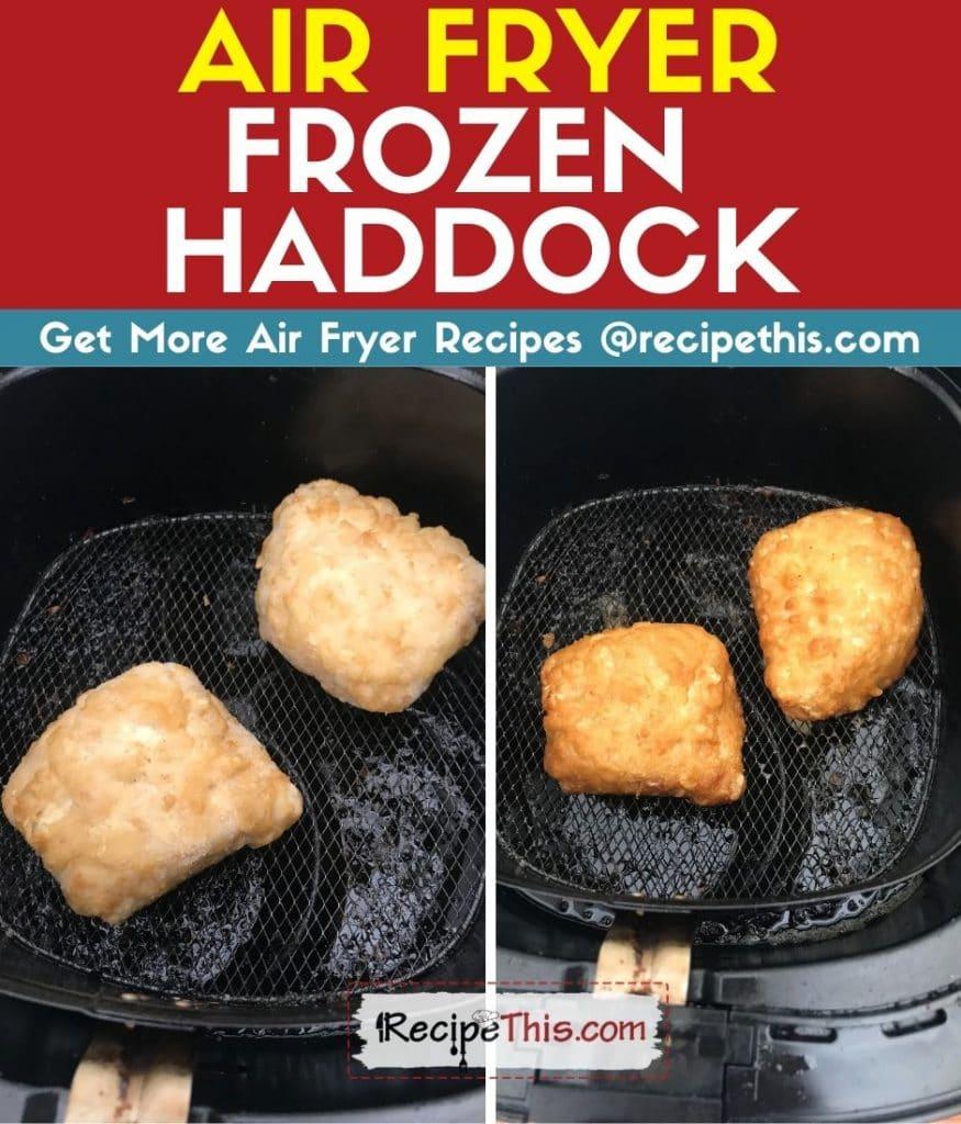 air fryer frozen haddock step by step