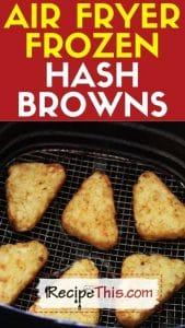 air fryer frozen hash browns recipe