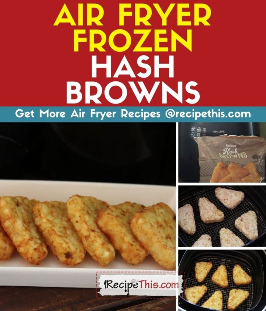 air fryer frozen hash browns step by step