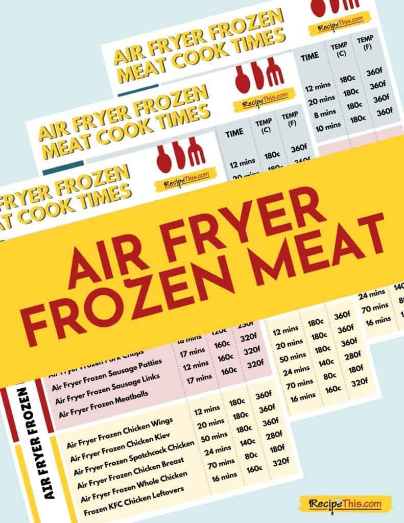 air fryer frozen meat