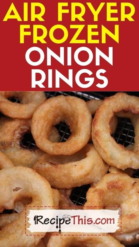 air fryer frozen onion rings recipe