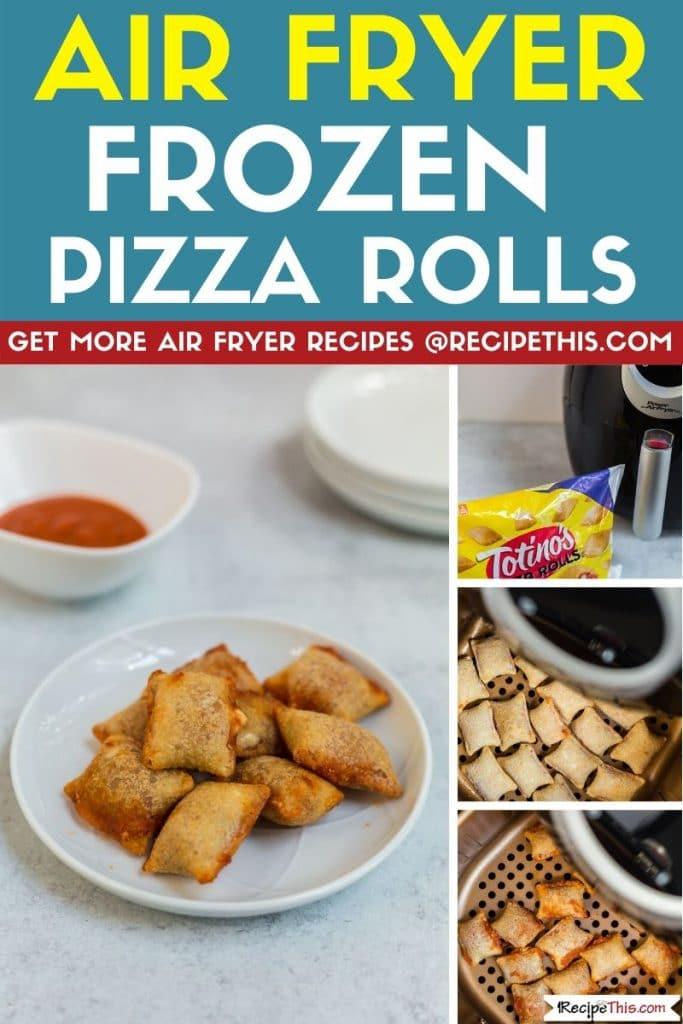 air fryer frozen pizza rolls step by step
