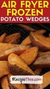 air fryer frozen potato wedges recipe