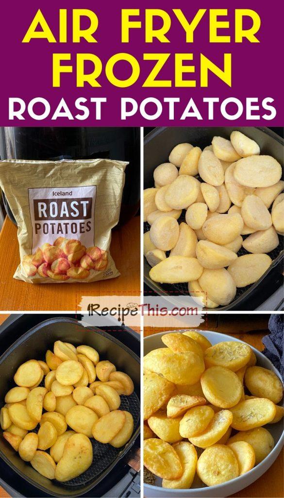 air fryer frozen roast potatoes step by step