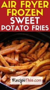 air fryer frozen sweet potato fries recipe