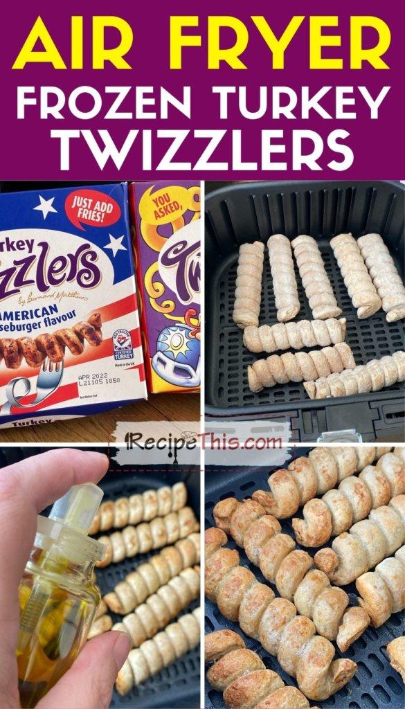 air fryer frozen turkey twizzlers instructions