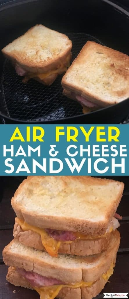 air fryer ham and cheese sandwich at recipethis.com