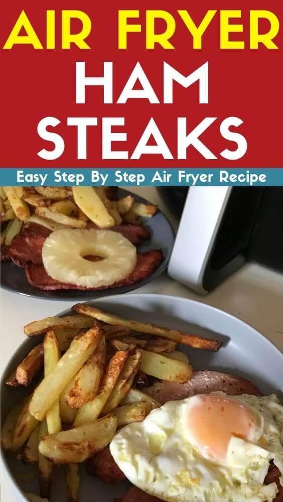 Air Fryer Ham Steaks