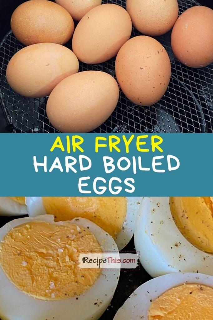 air fryer hard boiled eggs recipe