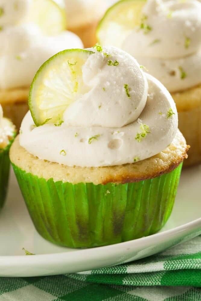 air fryer key lime cupcakes