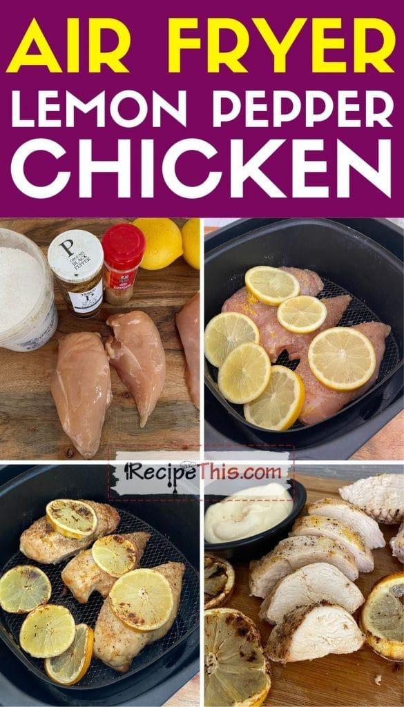 air fryer lemon pepper chicken step by step