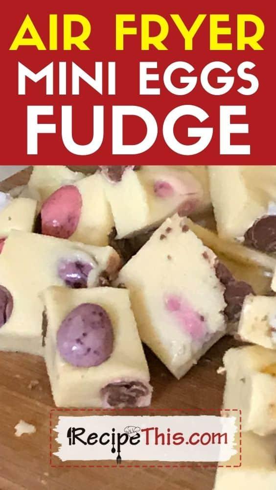 air fryer mini egg fudge at recipethis.com