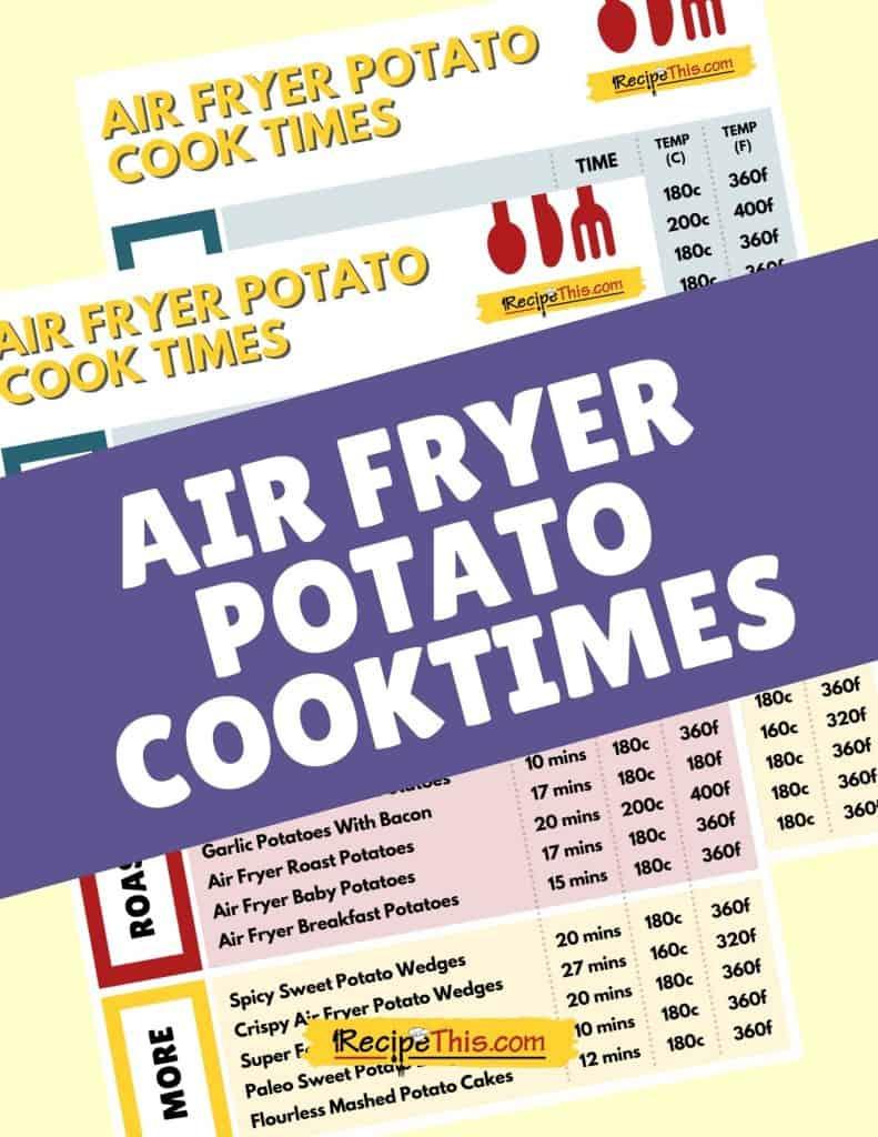 air fryer potato cook times