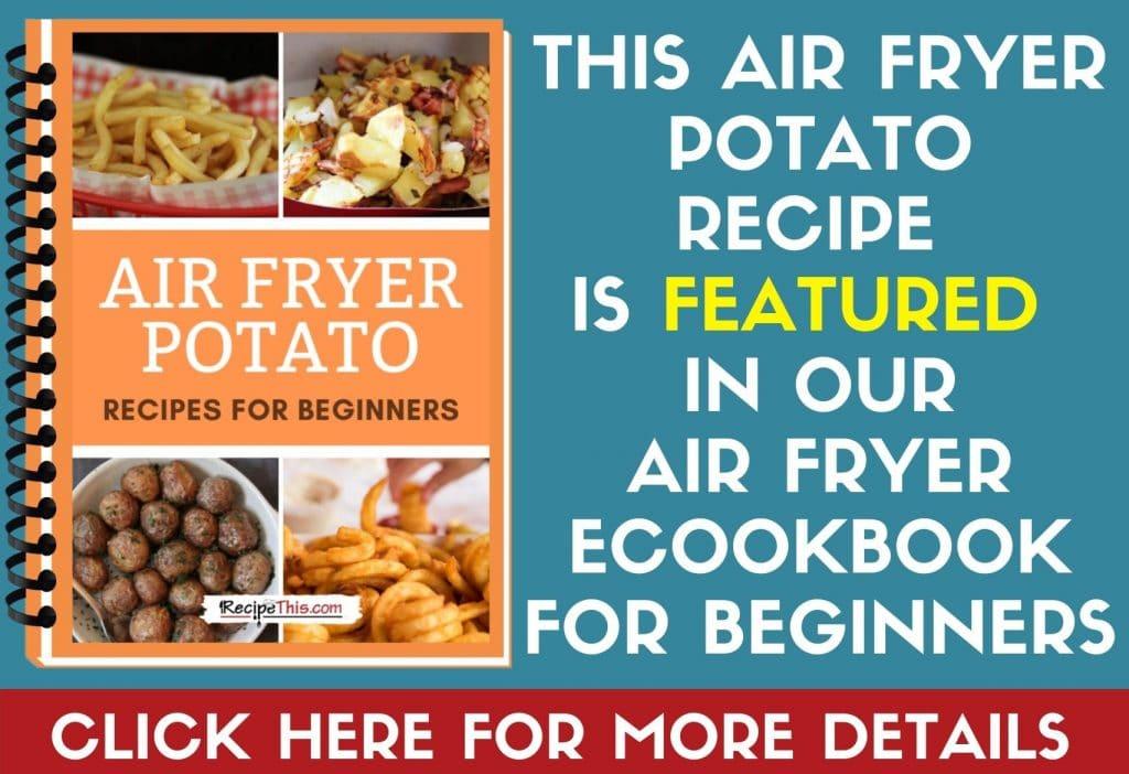 air fryer potato cookbook featured in