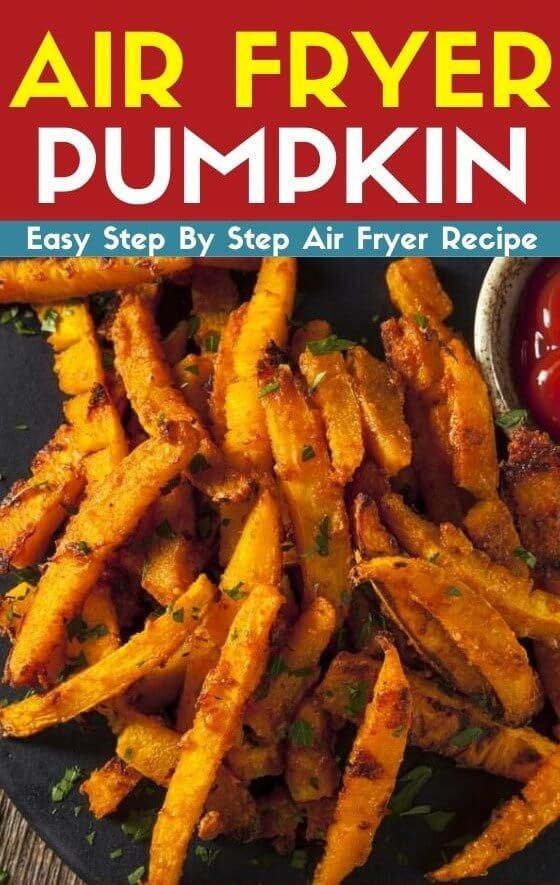 air fryer pumpkin inc fries and wedges