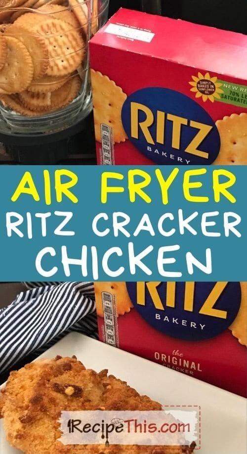 air fryer ritz cracker chicken at recipethis.com