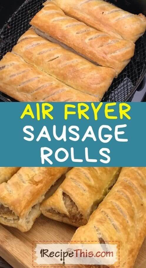 air fryer sausage rolls at recipethis.com