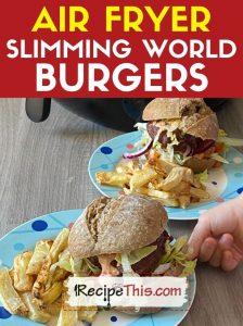 air fryer slimming world burgers