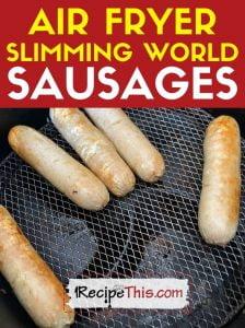 air fryer slimming world sausages