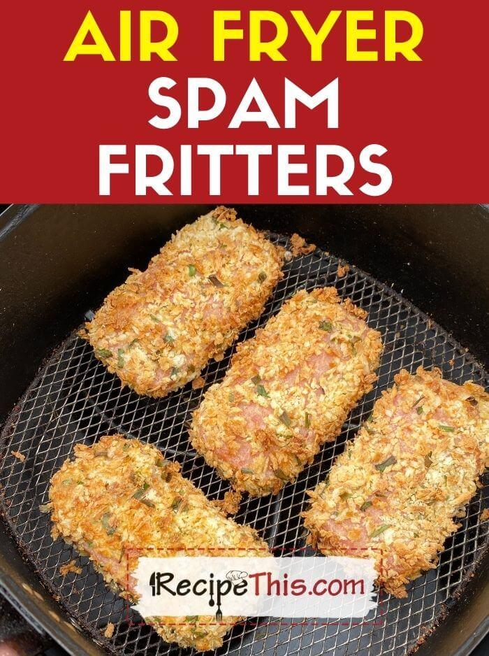 air fryer spam fritters recipe