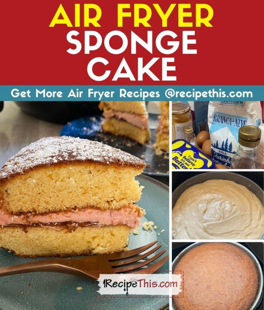 air fryer sponge cake step by step