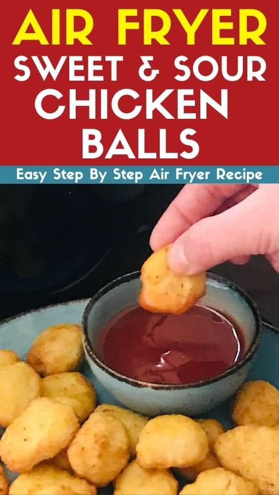 Air Fryer Sweet and Sour Chicken Balls