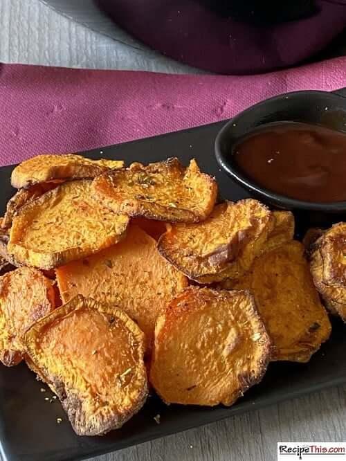 air fryer sweet potato slices