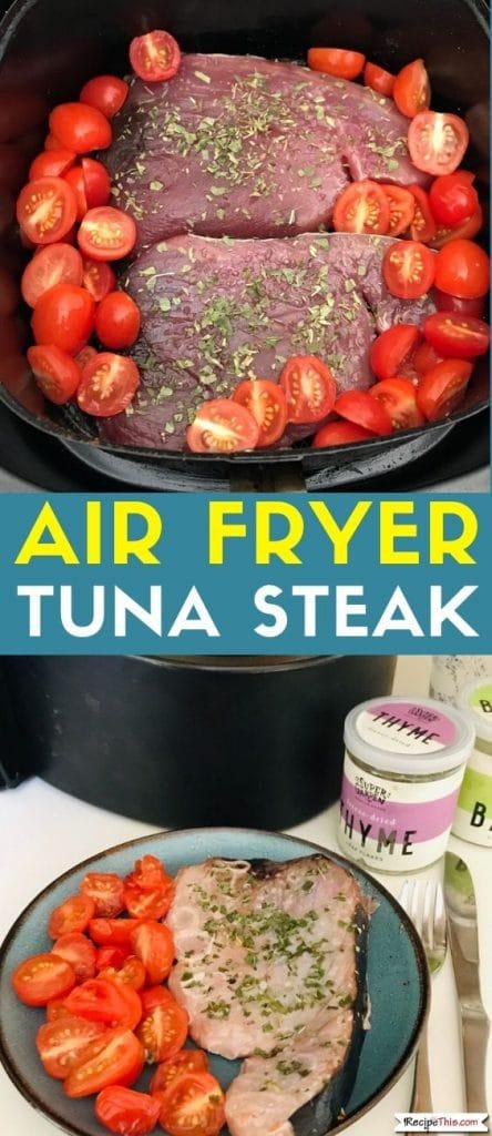 air fryer tuna steak at recipethis.com