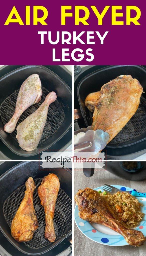 air fryer turkey legs step by step