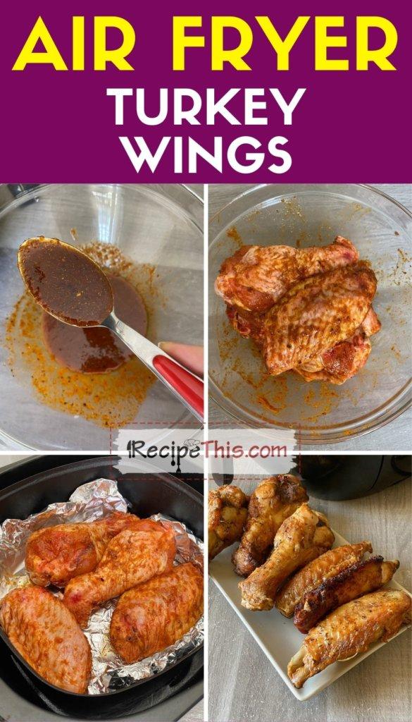air fryer turkey wings step by step