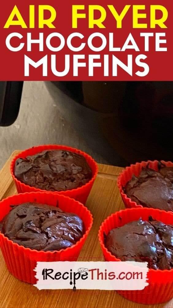 best air fryer chocolate muffins