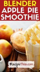 blender apple pie smoothie blender recipe