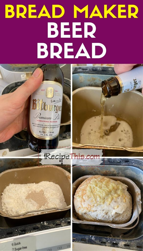 bread maker beer bread how to make