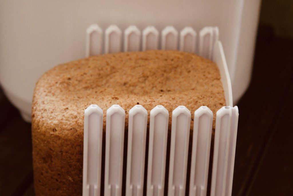 bread maker bread with a bread slicer