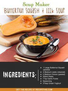 """soup maker butternut squash and leek soup"""