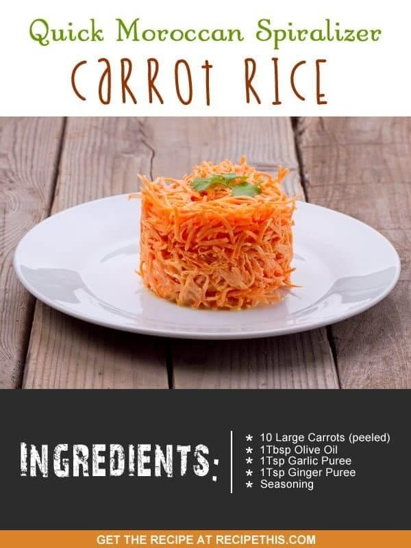"""spiralizer carrot rice"""