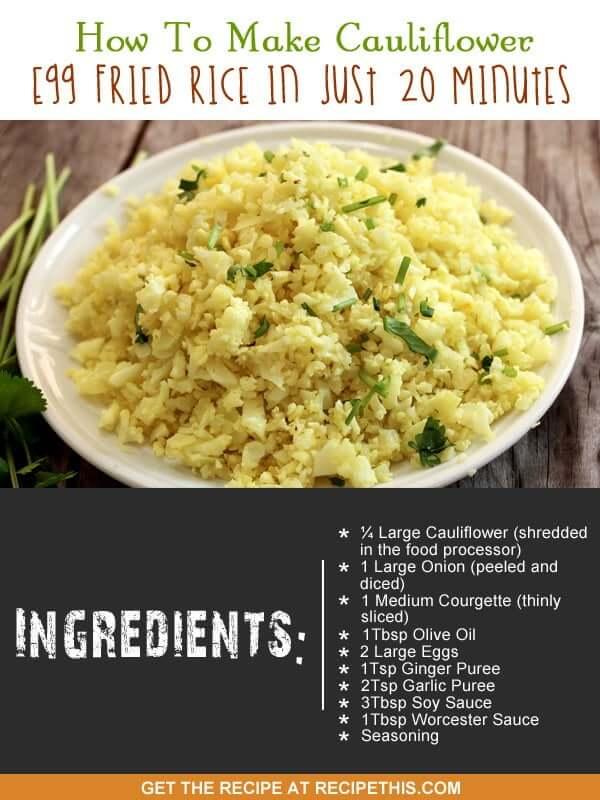"""cauliflower egg fried rice recipe"""