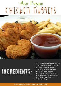 """chicken nuggets not mcdonalds but air fryer chicken nuggets"""