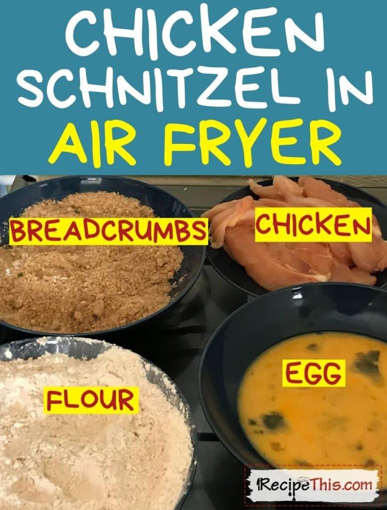 chicken schnitzel in air fryer