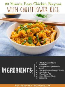 """""""chicken biryani with cauliflower rice"""""""