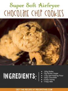 """""""Air fryer choc chip cookies"""""""