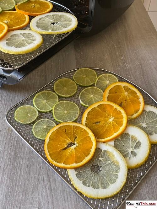 dehydrated citrus fruit